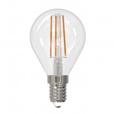 Лампа светодиодная (UL-00005173) E14 9W 4000K прозрачная LED-G45-9W/4000K/E14/CL PLS02WH.
