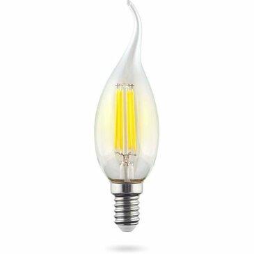 Лампа светодиодная филаментная E14 9W 2800К прозрачная VG10-CW1E14warm9W-F 7094.