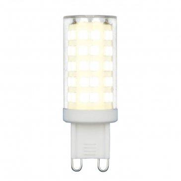 Лампа светодиодная (UL-00006488) Uniel G9 9W 3000K прозрачная LED-JCD-9W/3000K/G9/CL GLZ09TR.